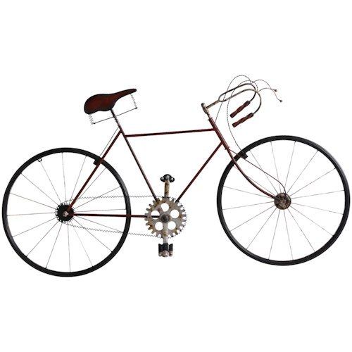 Bicycle Metal Wall Art - Wall Décor by StyleCraft - Wilcox Furniture ...