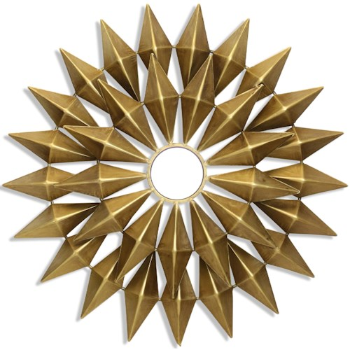 Gold Metal Starburst Wall Art with Mirrored Center - Wall Décor by ...