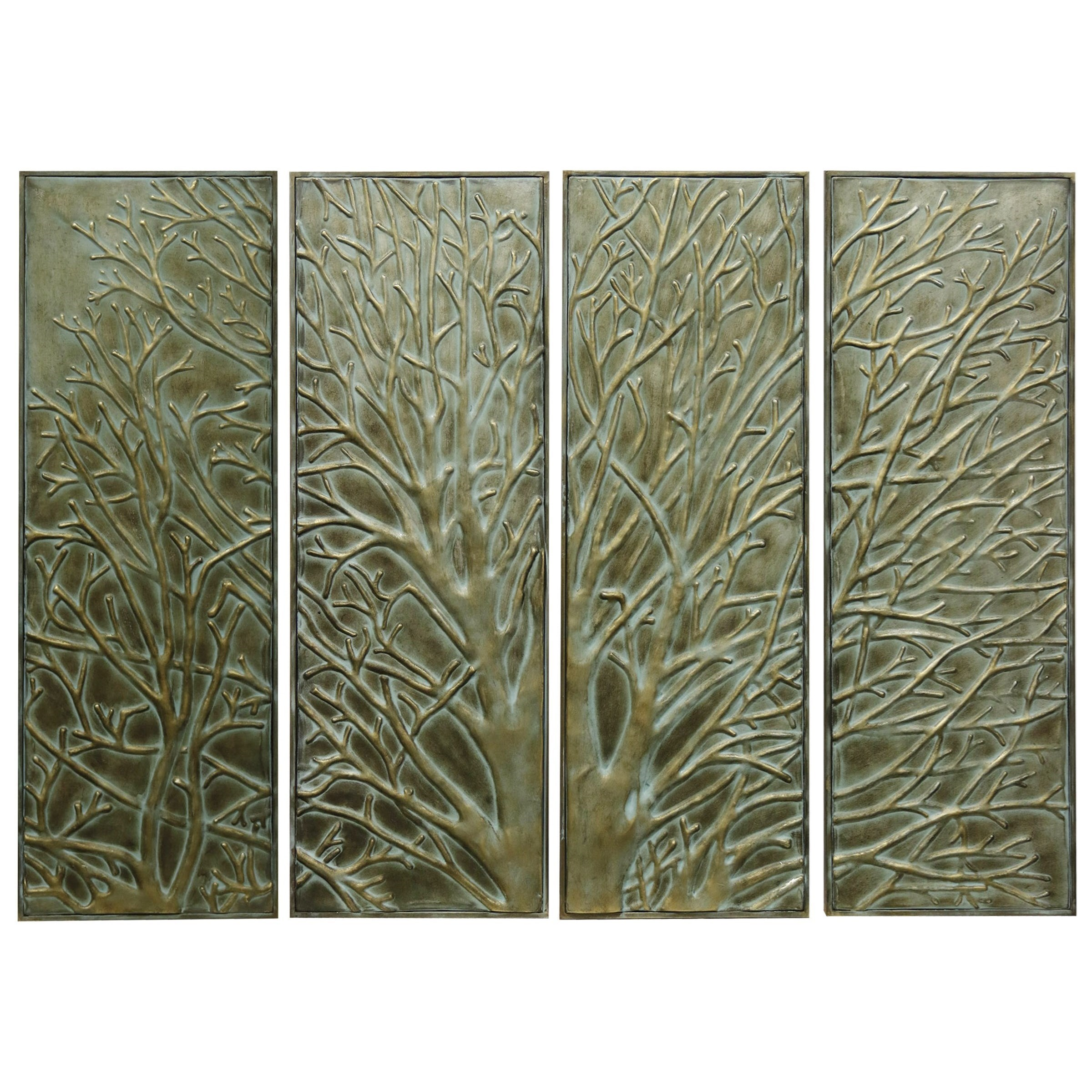 Awesome StyleCraft Wall DécorSet Of Four Metal Wall Art Panels
