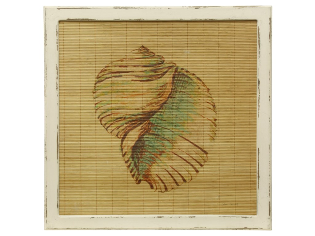 StyleCraft Wall D?r WI52329 Bamboo Screen Printed with Sea Shell ...
