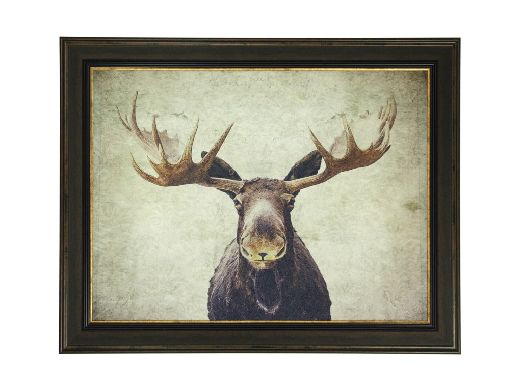 Stylecraft wall dcor moose textured print custom framed wall dcor moose textured print custom framed by stylecraft amipublicfo Image collections