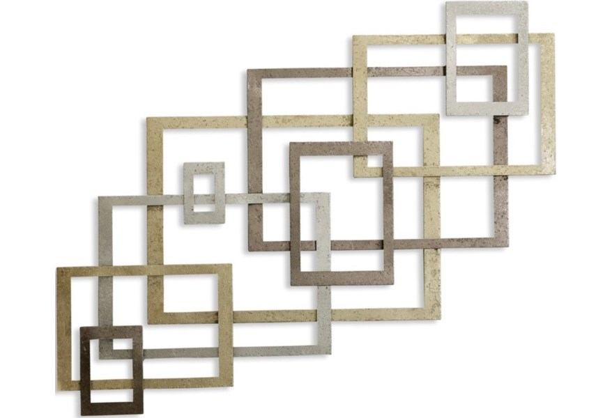 Modern Port 9 Metal Wall Sculpture