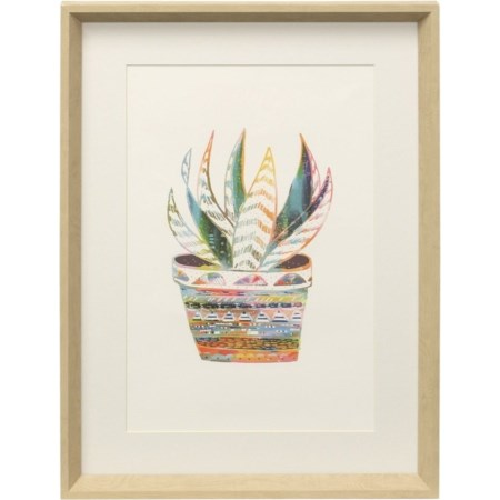 West Planter | Framed Print Under Glass