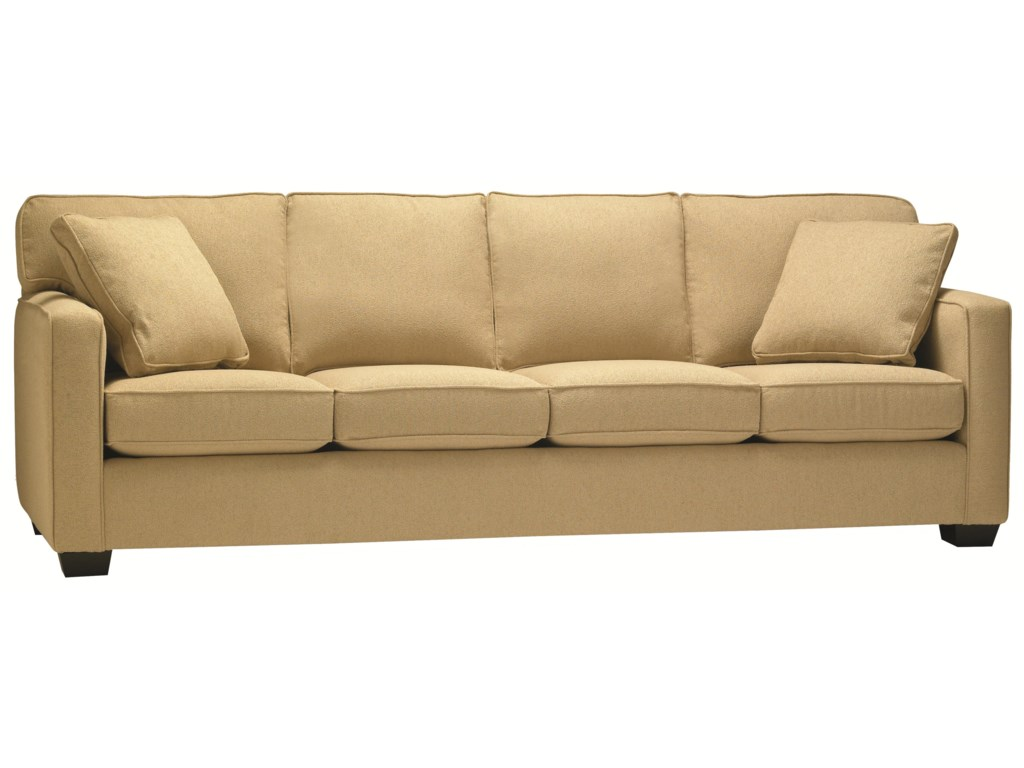 5901 Four Seat Sofa in Casual Contemporary Style | Stoney ...