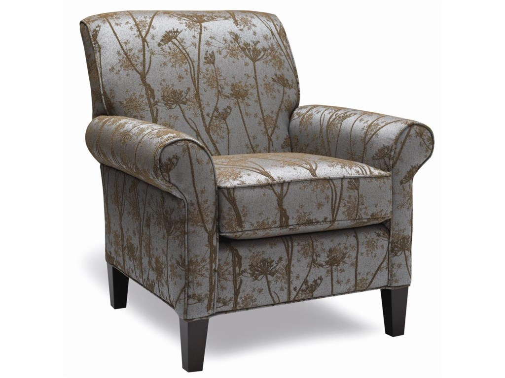 Accent Chairs.4320 1 Traditional Accent Chair With Rolled Arms And Wooden Legs By Stylus At Stoney Creek Furniture