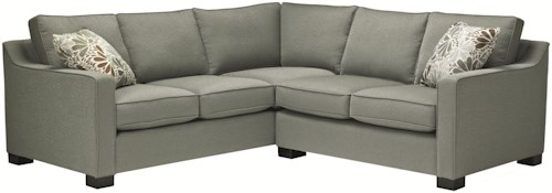 Stylus 2424 Casual Sectional Sofa in Elegant Furniture Style