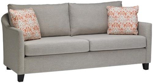 Stylus 7909 Contemporary Sofa with Two Seat Cushions