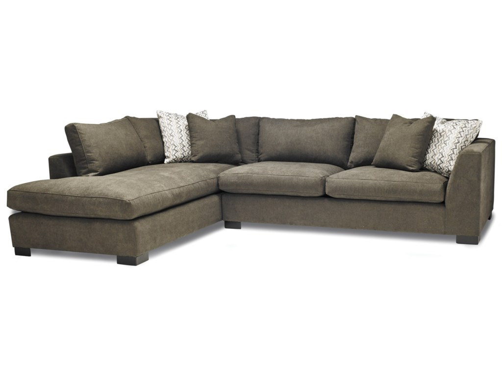2099 Casual Two Piece Sectional Sofa with LAF Chaise