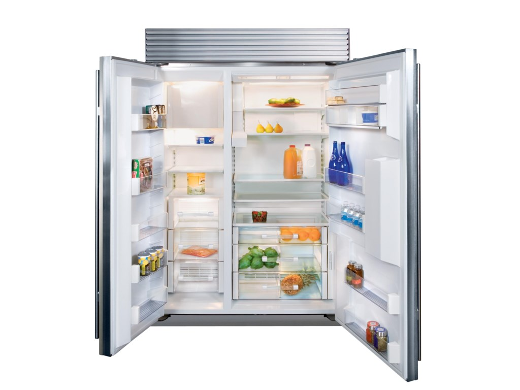 Side by side integrated fridge freezer - 48 Side By Side Refrigerator With External Water Dispenser By Sub Zero