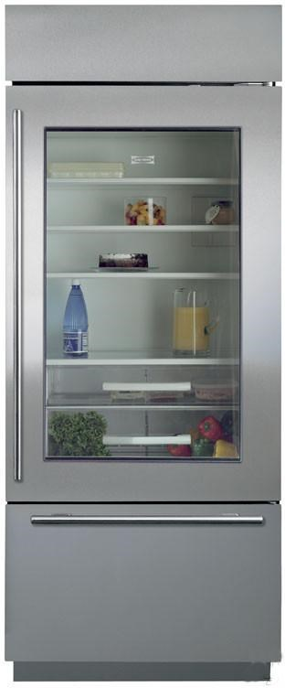 Sub Zero 16.8 Cu. Ft. Bottom Freezer Refrigerator With Glass Door    Furniture And ApplianceMart   Refrigerator   Cabinet Depth: Bottom Freezer