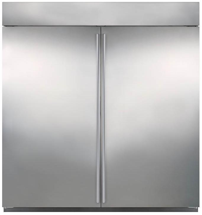 Shown with the BI-36R Refrigerator with a Flush Inset Application and Dual Wide Grille