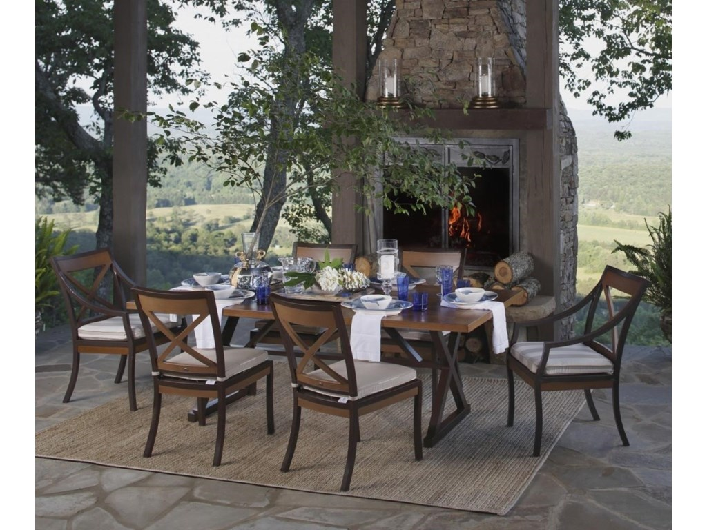 Summer Classics Belize  Piece Outdoor Dining Set Dunk  Bright - Summer classics outdoor furniture
