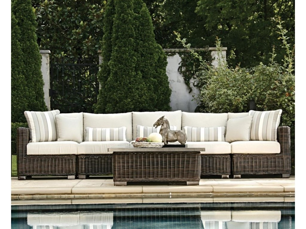 Summer Classics Rustic Outdoor Sectional Sofa | Story & Lee ...