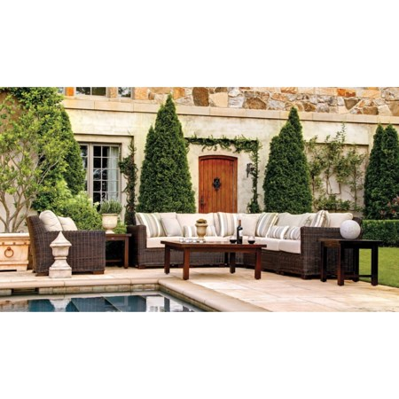 Outdoor Sectional and Chair Set