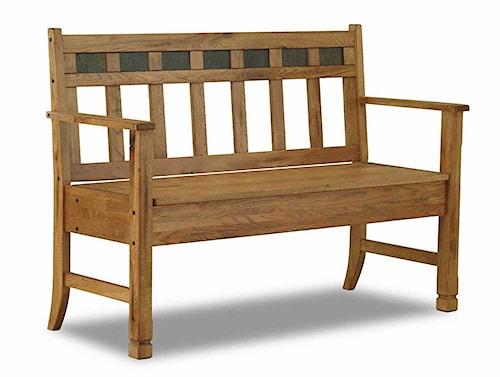 Sunny Designs Sedona Rustic Oak Bench with Storage