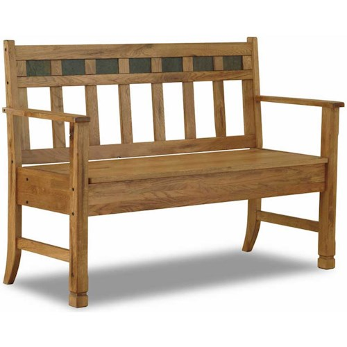 Sunny Designs Sedona Rustic Oak Bench with Storage