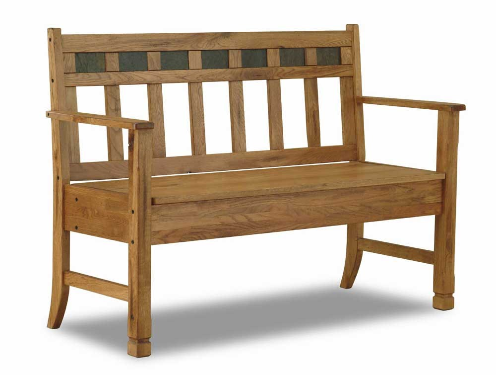 Beau Sunny Designs Sedona Rustic Oak Bench With Storage