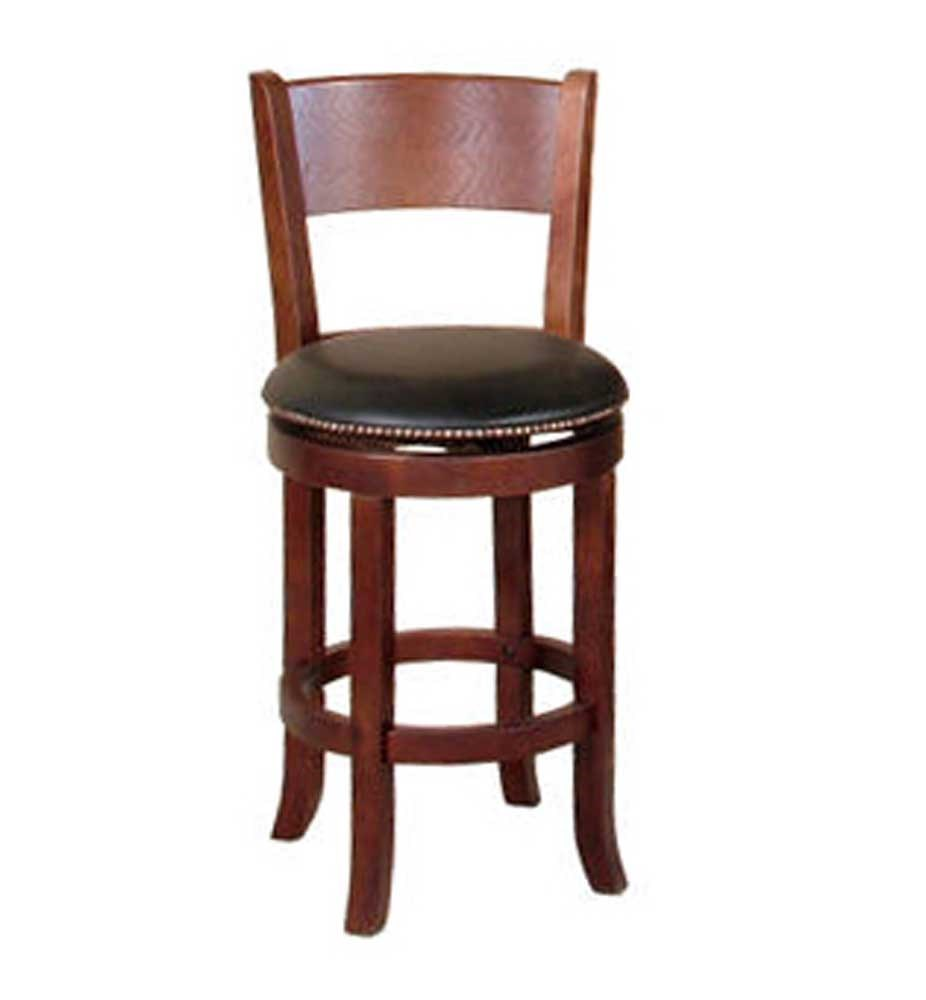 Sunny Designs Cappuccino 24 Swivel Barstool With Back Walkers