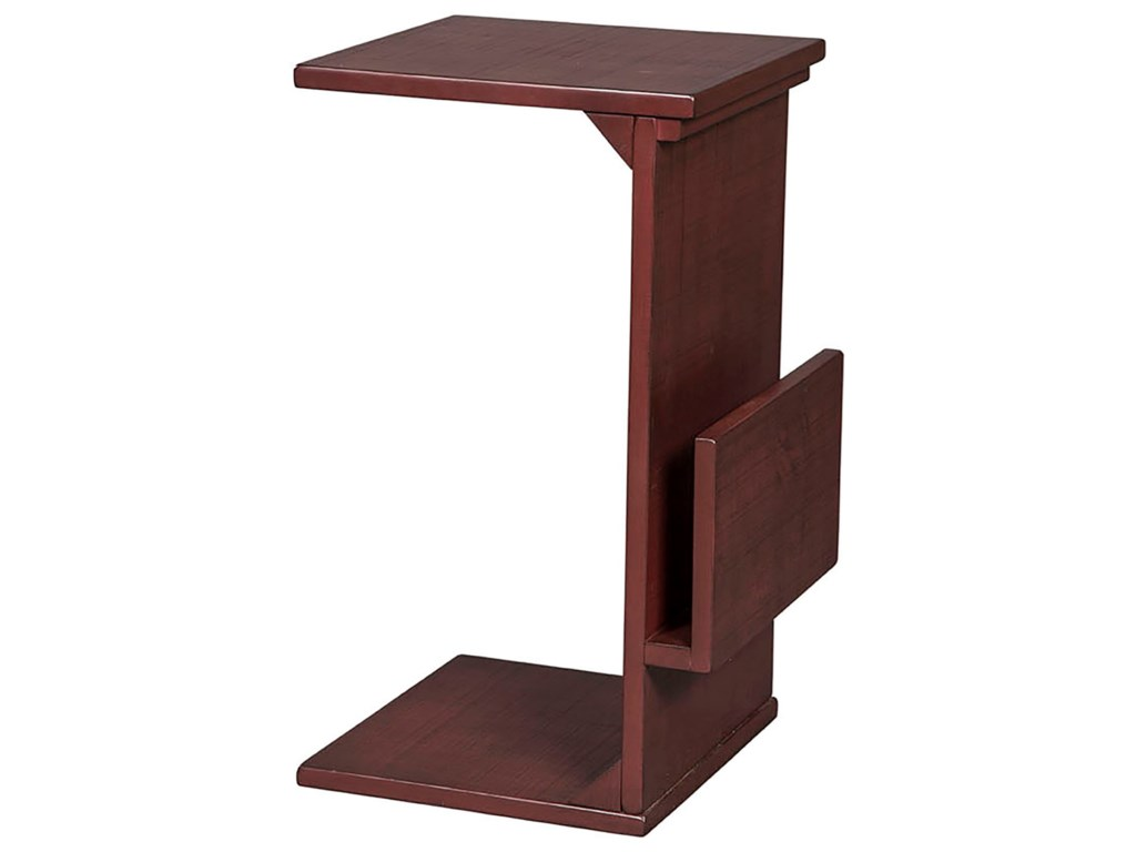 Sunny Designs 2029Chairside Table w/ Magazine Rack
