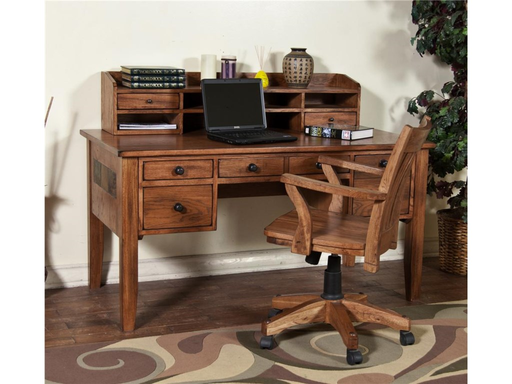 Market Square Morris Home Writing Desk Hutch Sets