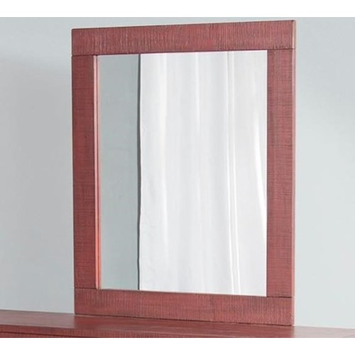 Sunny Designs 2319 Rustic Mirror with Wood Frame