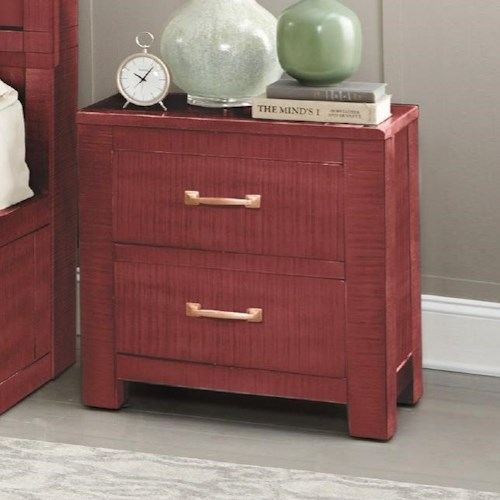 Sunny Designs 2319 Rustic Nightstand with Distressed Finish