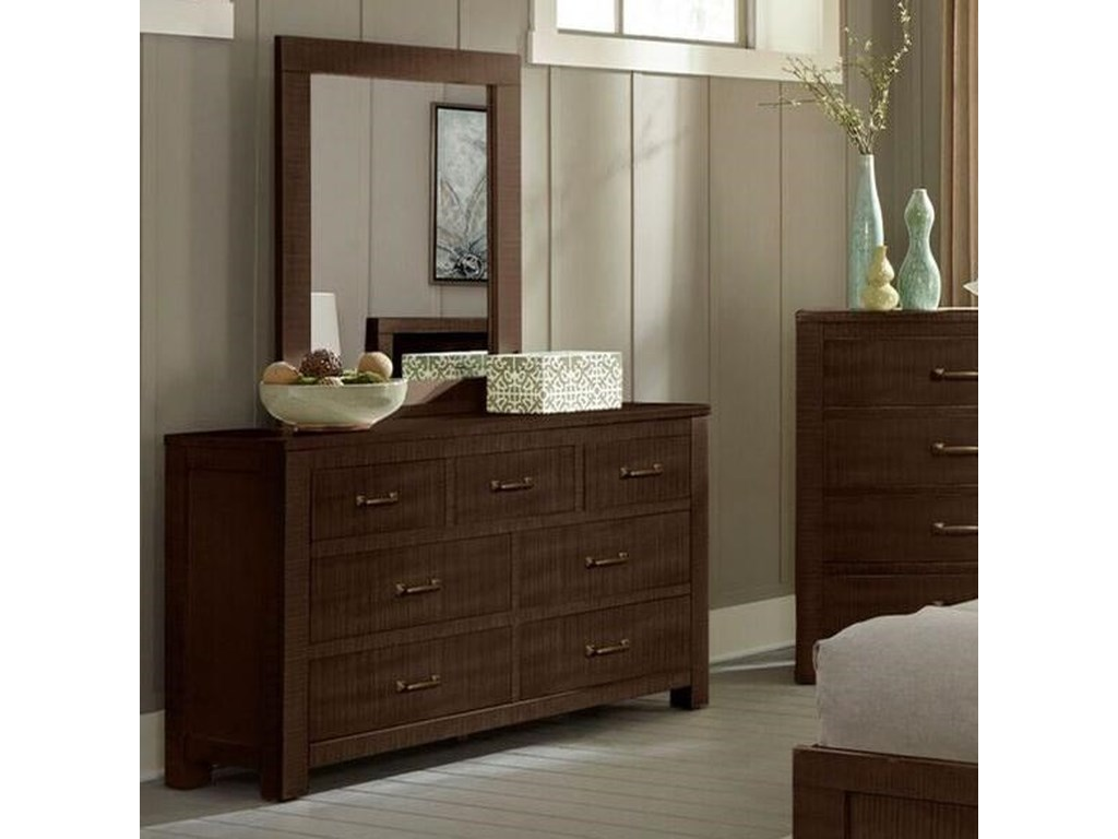 Sunny Designs 2319Dresser and Mirror Set