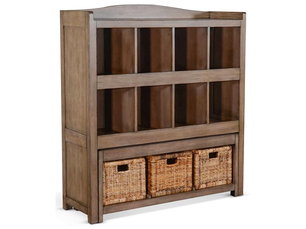 Sunny Designs 2993Storage Bookcase w/ Trundle Bench