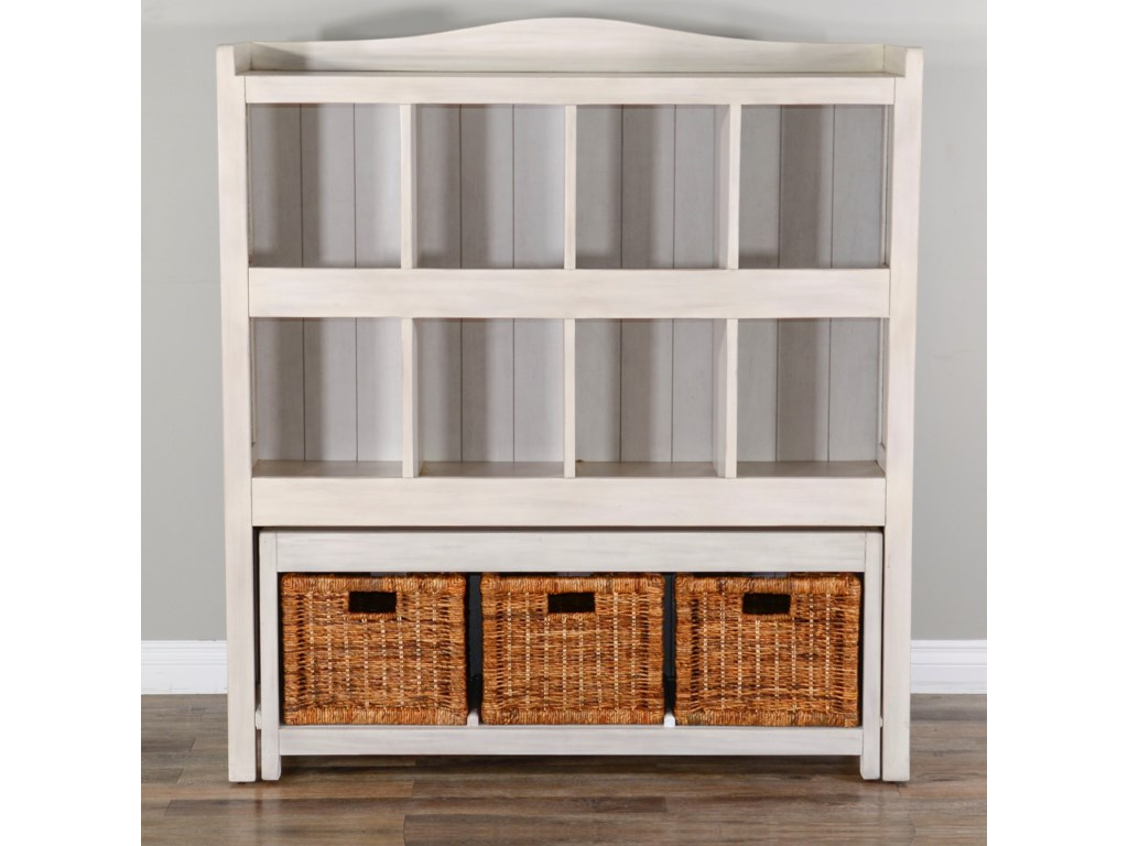 Sunny Designs 2993Storage Bookcase w/ Trundle Bench