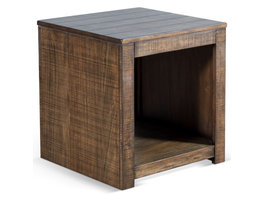 Sunny Designs 3108Solid Wood Mahogany End Table