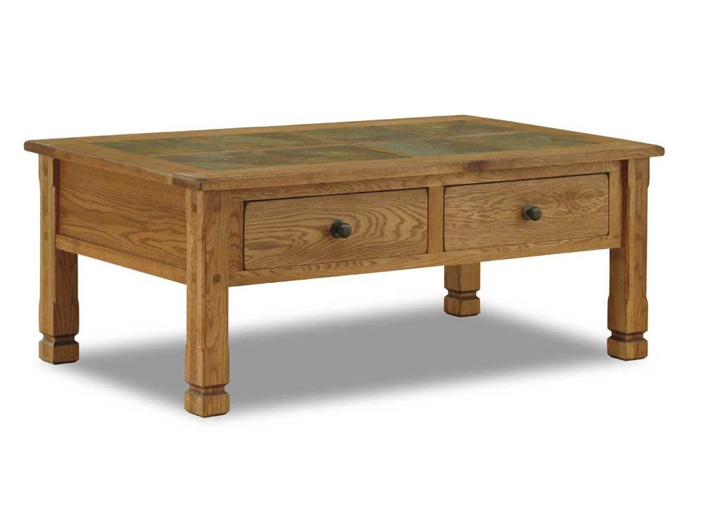 Oak Coffee Table.Sedona Rustic Oak Coffee Table With Slate Top By Sunny Designs At Furniture And Appliancemart