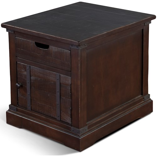 Sunny Designs 3270 Rustic End Table with Door
