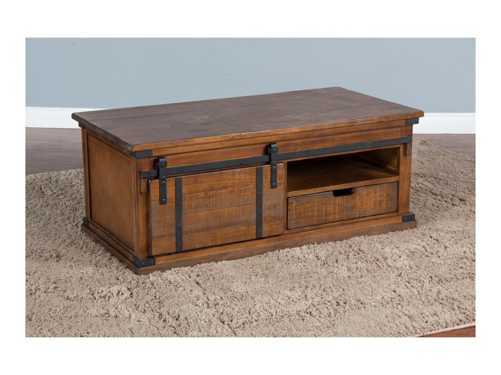 Sunny Designs 3270Barn Door Coffee Table