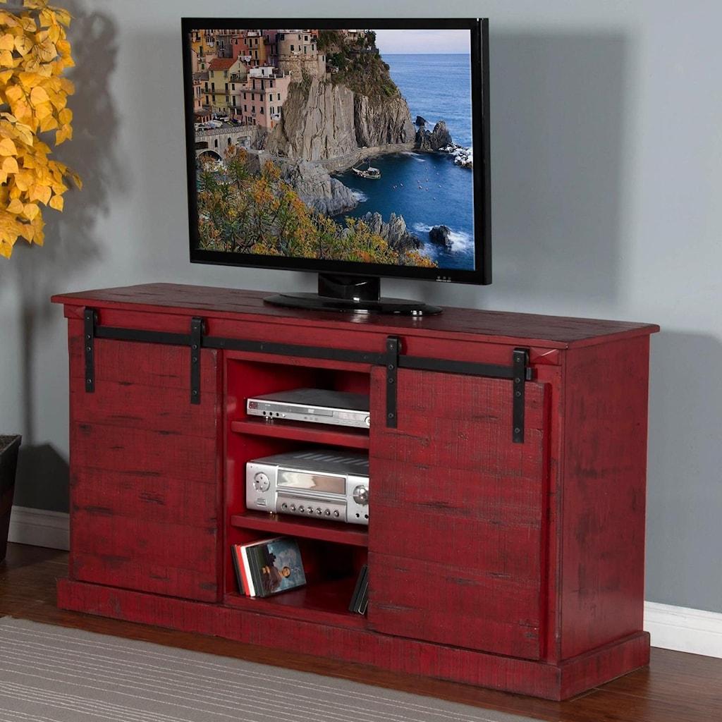 Rustic Barn 65 Tv Console W Barn Doors Ruby Gordon Home Tv Stands