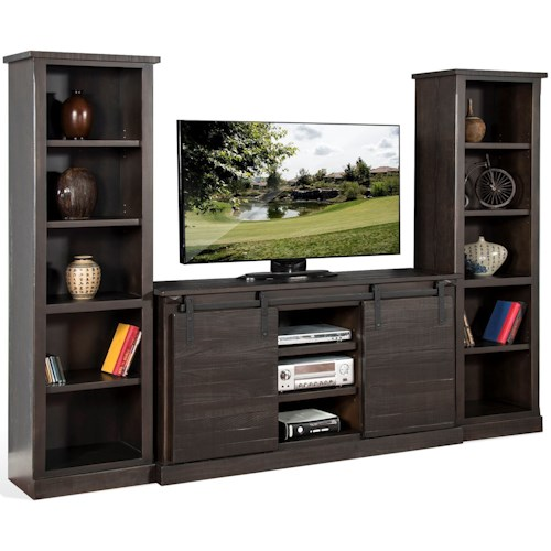 Sunny Designs 3577 Entertainment Wall Unit with Cord Management
