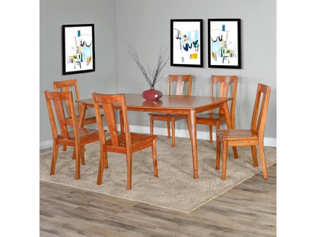 Sunny Designs American Modern7 Piece Table and Chair Set