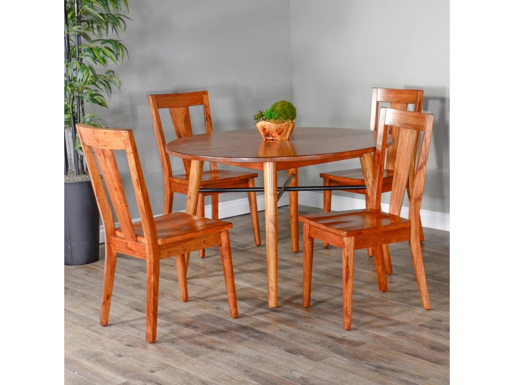 Sunny Designs American ModernDining Table Set with 4 Chairs