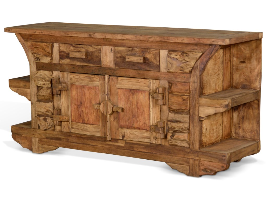 Sunny Designs Artifax 2055N Rustic Solid Wood TV Console
