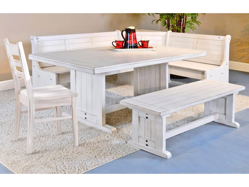 Bayside Breakfast Nook Set With Side Chair By Sunny Designs At Suburban Furniture