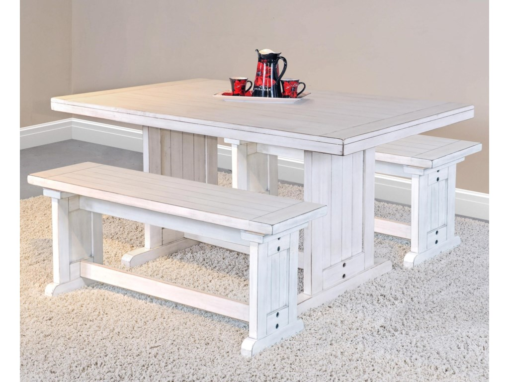 Sunny Designs BaysideTable with 2 Benches