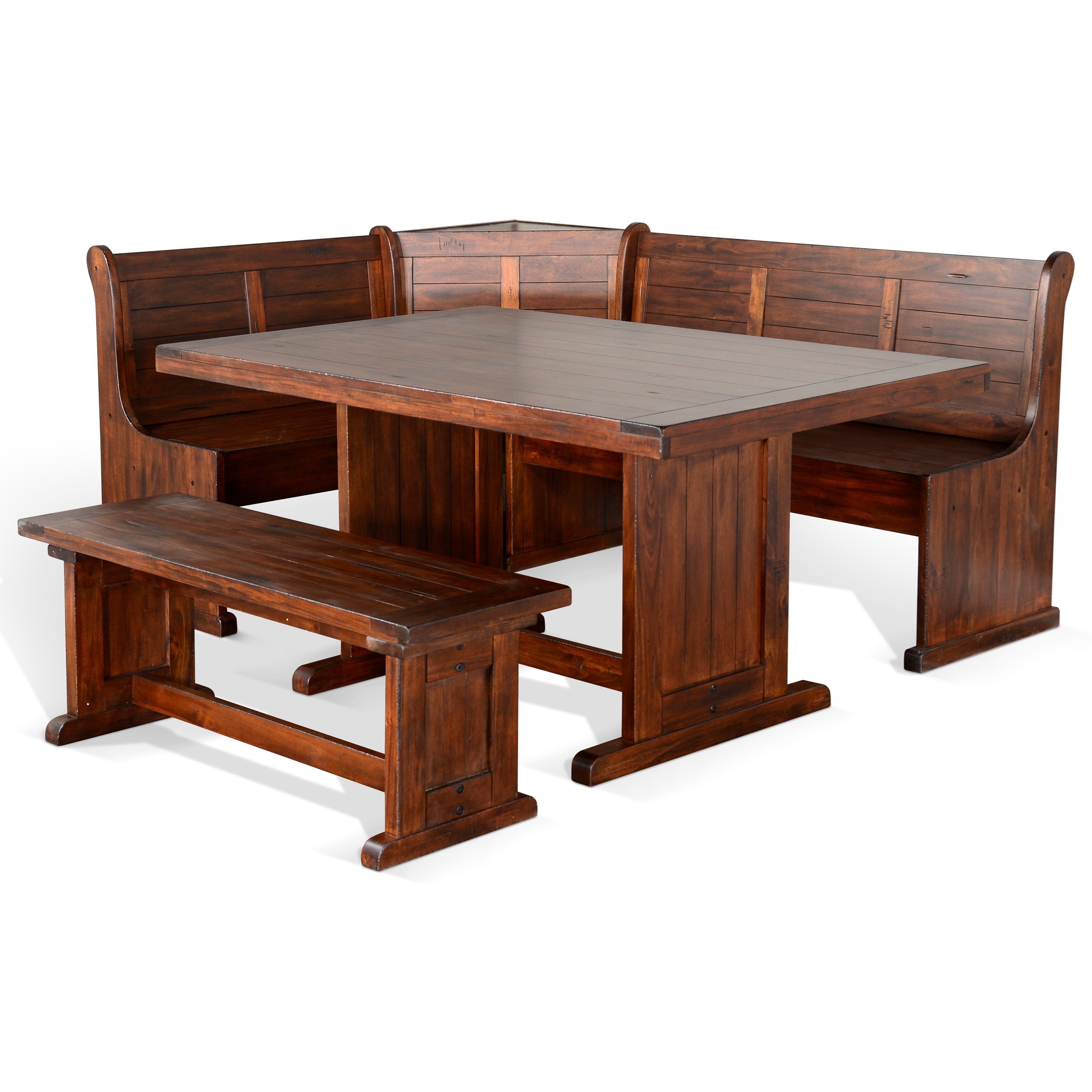 Picture of: Sunny Designs Bayside Breakfast Nook Set With Bench Conlin S Furniture Table Chair Set With Bench