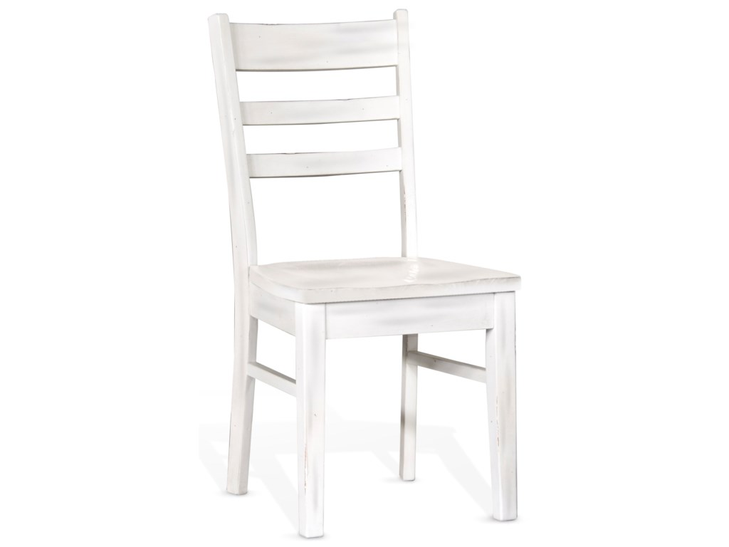 Sunny Designs BaysideLadderback Chair, Wood Seat