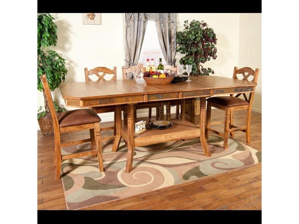 Belfast 5 Piece Counter Height Dining Set Includes Table And 4 Barstools By Market Square