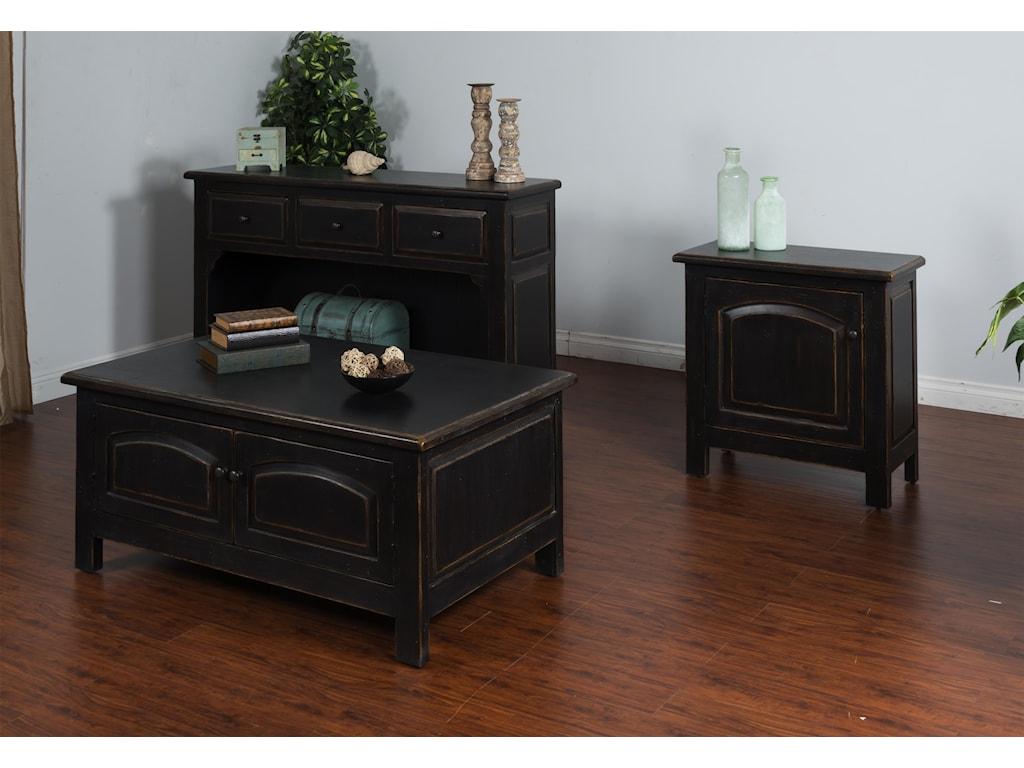 Sunny Designs BlackCoffee Table w/ Storage