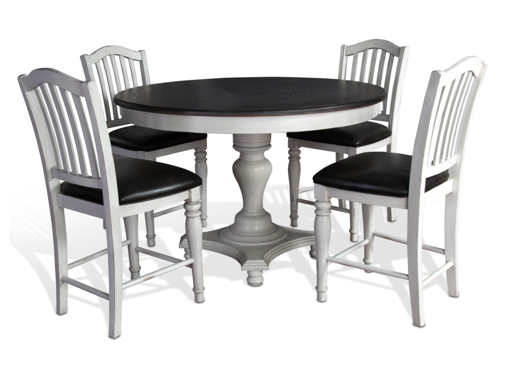 Sunny Designs Bourbon CountyFive Piece Table & Chair Set