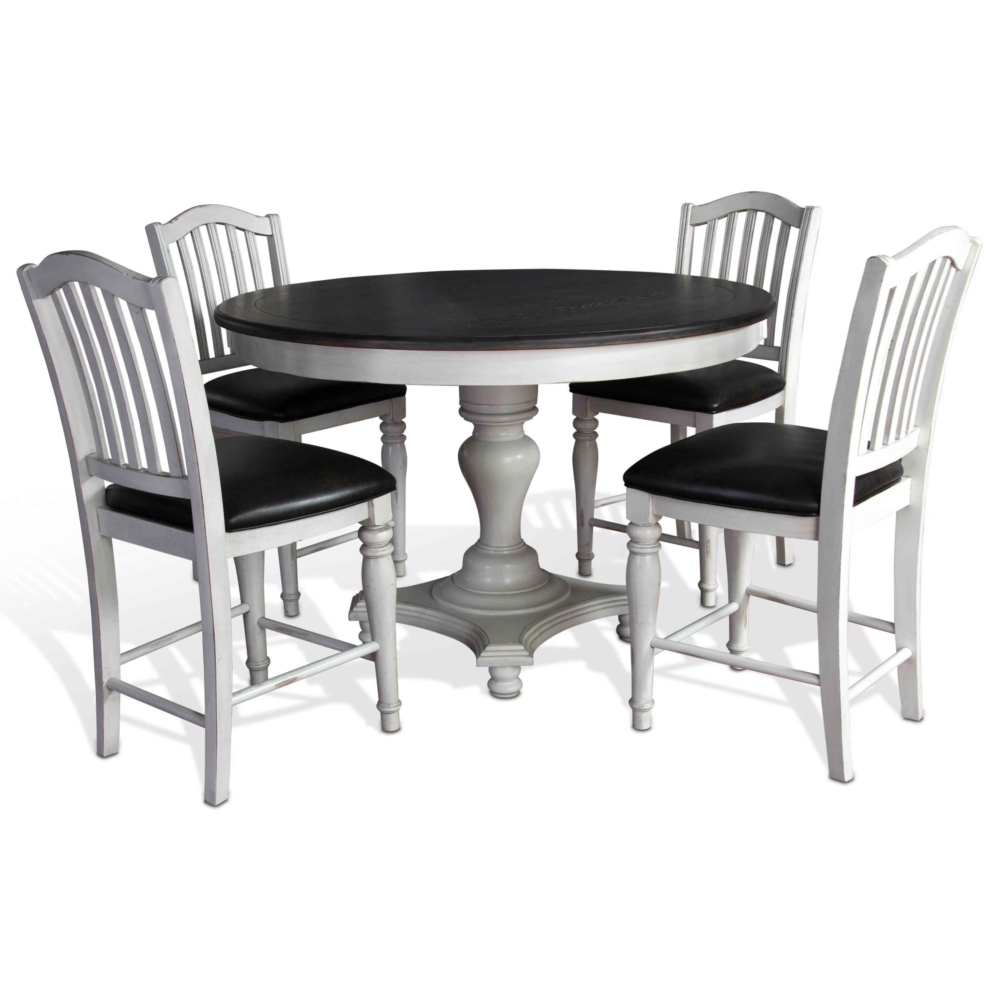 Charmant Sunny Designs Bourbon County 5 Piece Round Table U0026 Chair Set