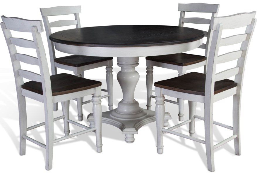 Sunny Designs Bourbon County 5 Piece Round Table & Chair Set ...