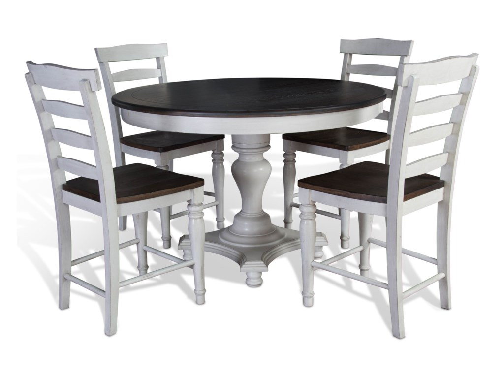 Sunny Designs Bourbon CountyRound Dining Table w/ Adjustable Height