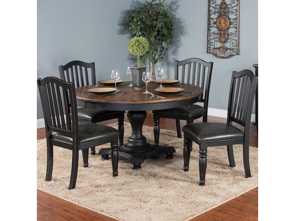 Sunny Designs Bourbon TrailFive Piece Chair & Table Set