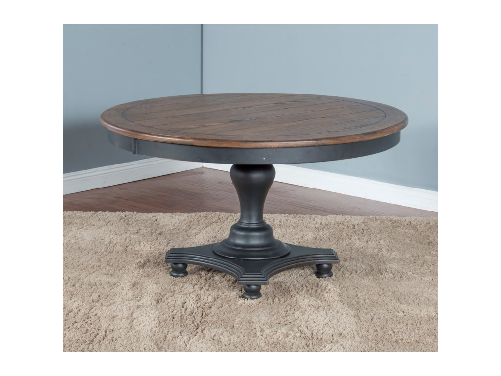 Sunny Designs Bourbon TrailRound Dining Table w/ Adjustable Height
